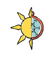 symbolic of half sun half compass vector image