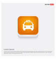 taxi icon orange abstract web button vector image