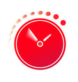 time flies on the clock vector image