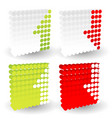 up down arrows in dotted cubes half arrows element vector image vector image