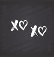xoxo brush lettering sign grunge calligraphic c vector image vector image