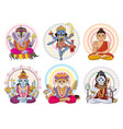 indian god hinduism godhead of goddess and vector image