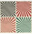 Sunburst Grunge Background Set on Crumpled Paper vector image
