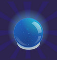 blue glowing magic ball vector image