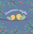 summer night vector image