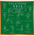 2013 Calendar sketches vector image vector image