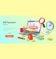 3d concept bills online vector image