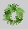 a wreath of two types of palm branches vector image vector image