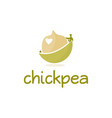 abstract template logo design with chickpea vector image vector image