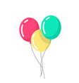 air balloons in a flat style balloons isolated vector image vector image