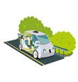 autonomous smart car colorful poster vector image