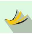 Banana peel icon flat style vector image vector image