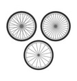 bicycle wheel symbol vector image vector image