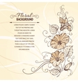 Bindweed on a sepia background vector image vector image