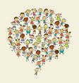 cartoon children with speech bubbles vector image