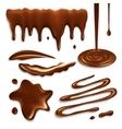 Chocolate Drops Set vector image vector image