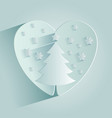 christmas tree in heart vector image vector image