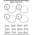 clock face educational workbook for children vector image