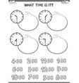 clock face educational workbook for children vector image