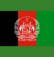 closeup flag afghanistan vector image