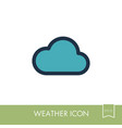cloud icon meteorology weather vector image