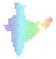 colored cirle dot india map vector image vector image