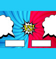 comic duel horizontal background vector image