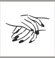 concept of hands with manicure vector image vector image