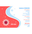 coronavirus 2019-ncov information banner flat vector image vector image