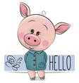 cute pig isolated on a white background vector image