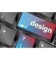 design word on keyboard keys button keyboard vector image vector image