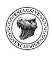 Dinosaurus head hand drawn vector image vector image
