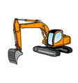 Excavator isolated on the white vector image