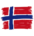 Flag of Norway handmade vector image