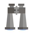 Flat binoculars icon vector image vector image