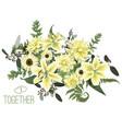 floral bouquet design green forest leaf fern vector image vector image