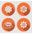 Flower icons set Lily chamomile blue poppy vector image vector image