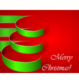 Green stripe Christmas tree eps10 vector image