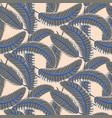grey banana palm leaves bold seamless vector image vector image