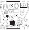 Hand drawn pattern set of photography vector image