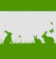 happy easter border vector image vector image