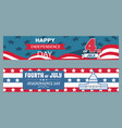 happy independence day set vector image vector image