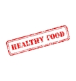 Healthy food rubber stamp vector image vector image