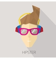 hipster man icon hipster style vector image