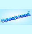 isometric 3d word franchising creative letters vector image