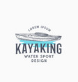 kayaking abstract sign symbol or logo template vector image