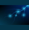 lightning and thunder bolt effect background vector image vector image