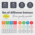Lock icon sign Big set of colorful diverse vector image vector image