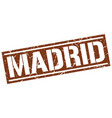madrid brown square stamp vector image vector image