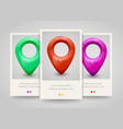map pin pointer poster flyer or ticket design vector image vector image